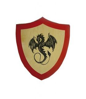 Brasão dragão negro para crianças