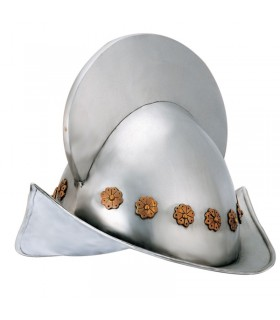 conquistador espanhol do século XVI Capacete