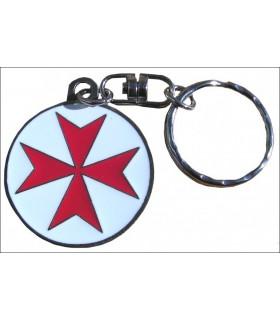 Templar Malta Cruz Keychain
