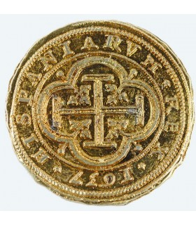 100 escudos moeda de ouro, 4 cms.