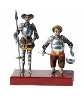Figura Don Quixote e Sancho Pança, 24 cms.