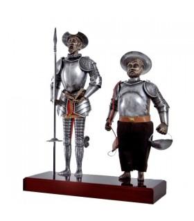 Figura Don Quixote e Sancho Pança, 42 cms.