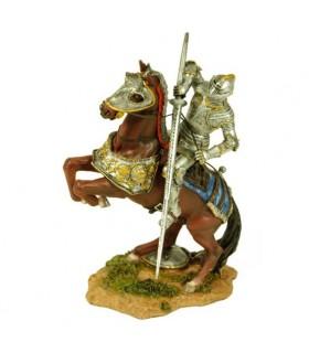 Figura pintada cavaleiro medieval