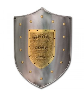 escudo gravado com coroa
