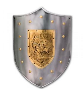 Guerrero escudo medieval