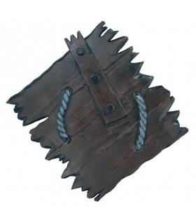 Escudo de látex Viking Orc, 80 cms.