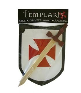 Setembro Templar espada e escudo