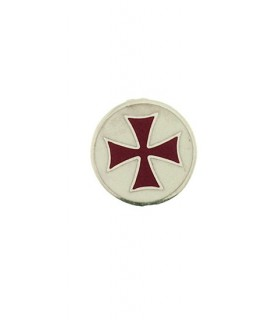 Templários Cruz broche de prata
