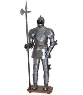 Armaduras com o século XV alabarda