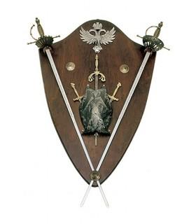 minipeto panóplia e espadas
