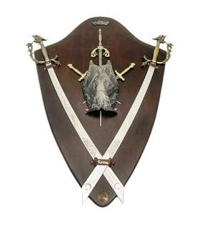 escudo panóplia e cimitarra