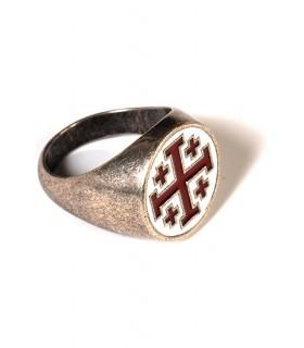anel cruz templária