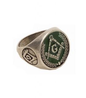 esmalte verde anel maçônico