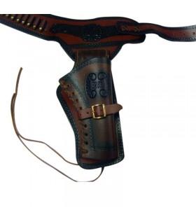 coldre de couro por um revólver (destro)