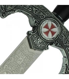 espada Templar rústico decorado