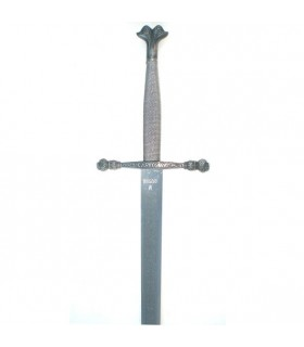 Espada Carlos V, lâmina gravado rústica