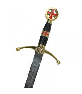 Espada dos cruzados. Tamanho cadete. 75 cms.