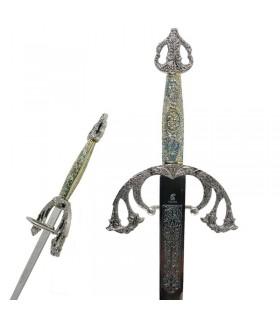 espada Tizona Cid com punho cinzelado