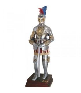 século XVI armadura cinzelado