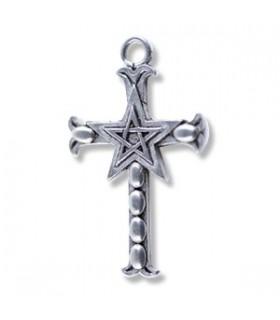 pentagrama pingente de cruz