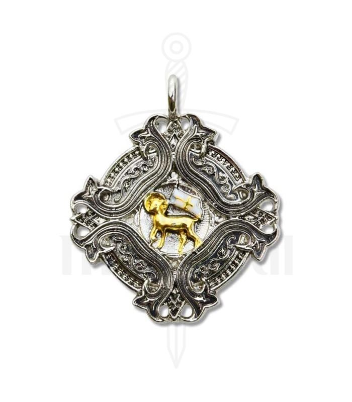 Templar pendant agnus dei loja medieval templar pendant agnus dei mozeypictures Image collections