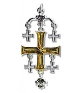 Pingente de Templar Cruz de Jerusalém