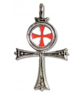 Egyptian Templários Cruz Pendant
