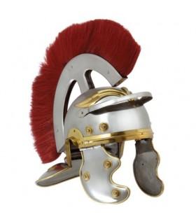 capacete Centurion romano com frente pluma