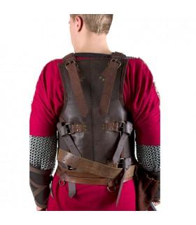 armadura de couro Viking