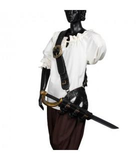 bandoleira de couro pirata