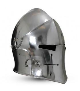 Barbuta medieval com viseira