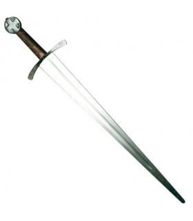 espada com folhas, uma mão