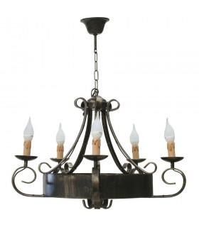 forjando lâmpada 5-braço