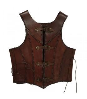 couro marrom armadura medieval