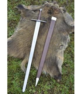 longa espada medieval com bainha, funcional