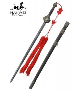 aço Jian espada Damasco