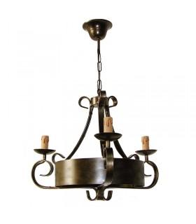 Forjar lâmpada de 3 braços