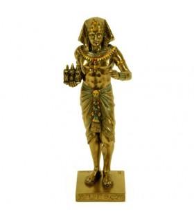 figura faraó egípcio com tríade