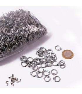 galvanizado dimensão anéis saco de malha, 9 mm.