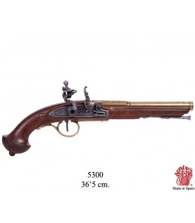 Flintlock pistola, do século XVIII