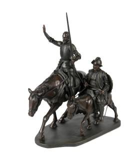 Quixote e Sancho cavalo diminuto
