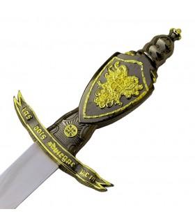 punhal medieval com espada