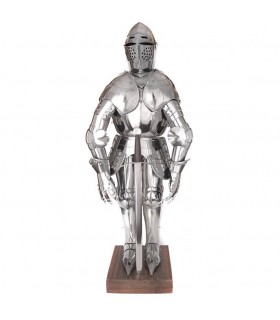 armadura medieval em miniatura, 71 cms.