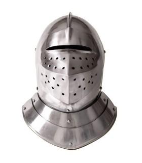 capacete medieval Inglês, s. XVI