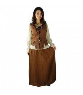 Mulher colete lace Medieval