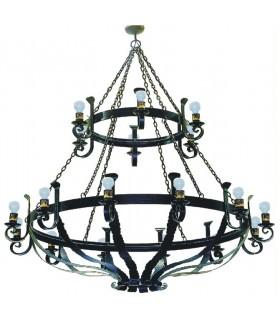 lâmpada roda de forjamento, 6 luzes