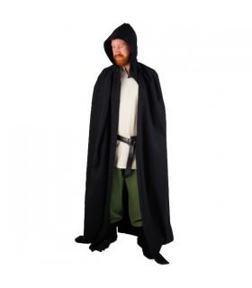 Capa medieval negra larga
