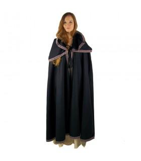 capuz casaco de lã medieval