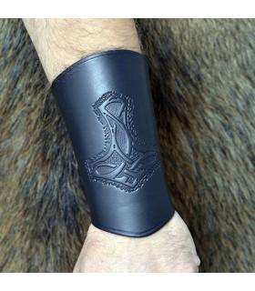 pulseira de couro martelo do Thor