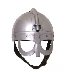 Casco vikingo con antifaz